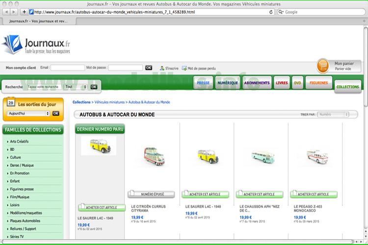 Relativ zeitnah kann man die Modellbusse der Sammelserie auch auch Deutschland direkt beim französischen Vertriebspartner bestellen.