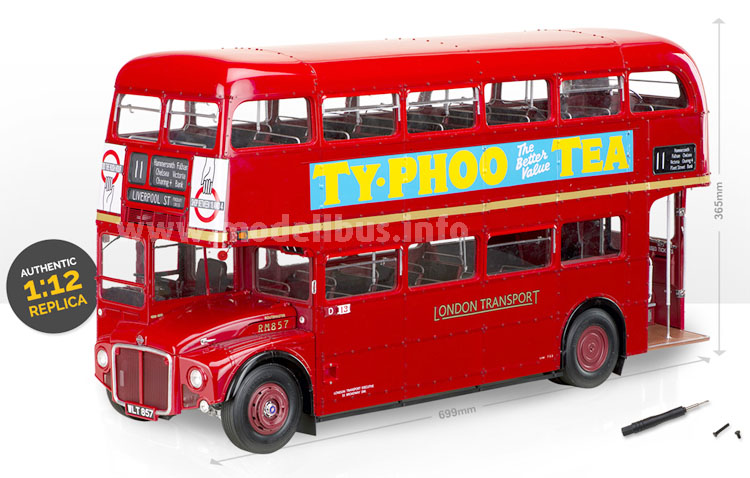 Binnen zwei Jahren ist der Modellbus des AEC Routemaster fertig...