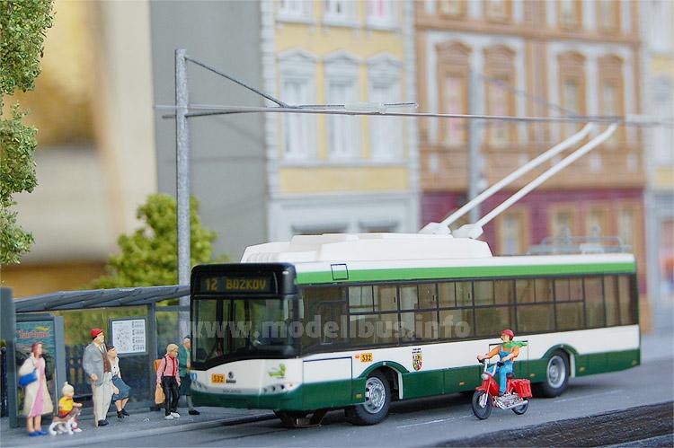 Basis der Digi-Trolley-Modelle sind Modellbusse von VK Modelle.