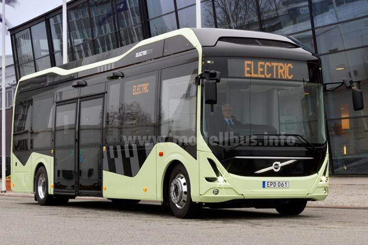 In Göteborg fahren ab Mitte Juni 2015 die ersten drei Elektrobusse von Volvo.
