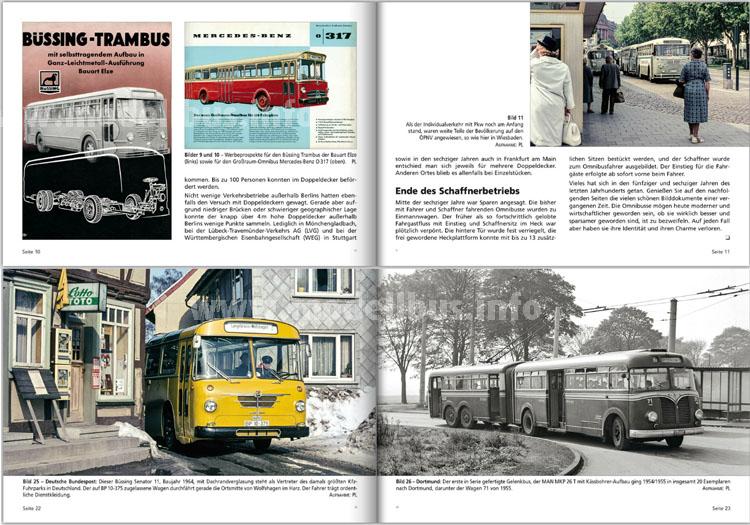 """Einblick in das neue Buch: Vier Seiten aus """"Damals auf Linie""""."""