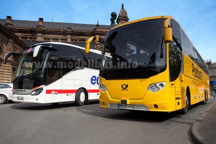 ...und kooperiert mit Eurolines. Joachim Wessels und Frank Zehle sind jetzt Fernbus-Partner.