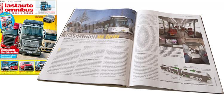 Ab sofort im Handel oder online bestellbar: Das Heft 6/2015 von lastauto omnibus.