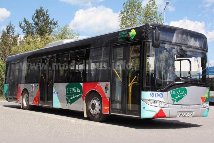 Solaris hat zur Zeit 333 Busse in Lettland auf der Straße.