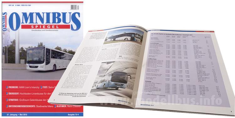 Fokus auf Hochbodenbusse: Der Omnibusspiegel 15-4.