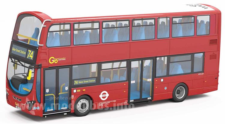 Roter Doppeldecker prägen nach wie vor das Stadtbild von London.
