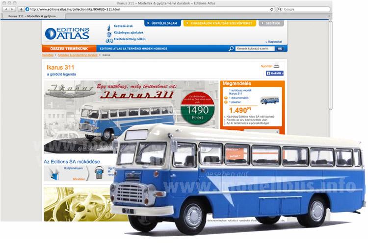 In Ungarn ist eine Sammelserie mit Ikarus-Modellbussen gestartet.