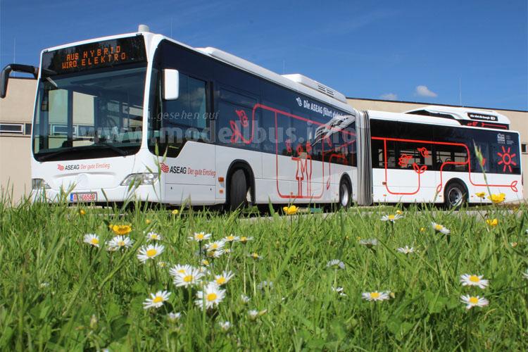 Erst ein Hybridbus, jetzt ein Elektrobus - der Mercedes-Benz Citaro G der ASEAG.
