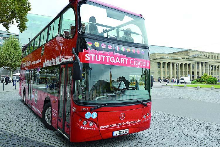 Mit einem 2. Cabrio-Doppeldecker ergänzen die Stuttgart das Sightseeing-Angebot.