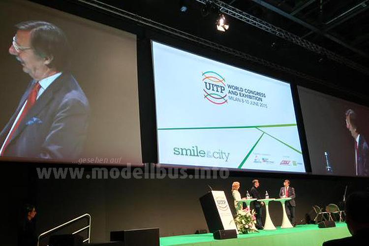 Der 61. UITP-Kongress fand 2015 in Mailand statt.