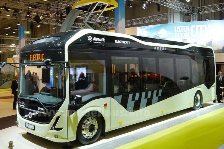 Der Star in Mailand: Volvos Elektrobus.