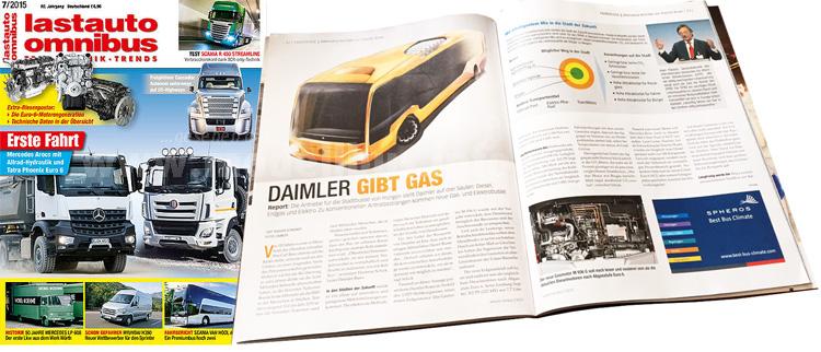 Spannend: Der neue Gasmotor und die Buszukunft im Hause Daimler,