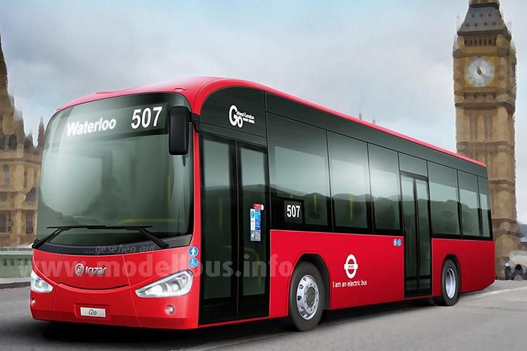 Zwei neue Elektrobusse für London