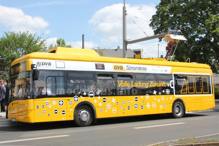 Volle Ladung Zukunft: Auch in Dresden ist Elektromobilität im ÖPNV ein Thema.