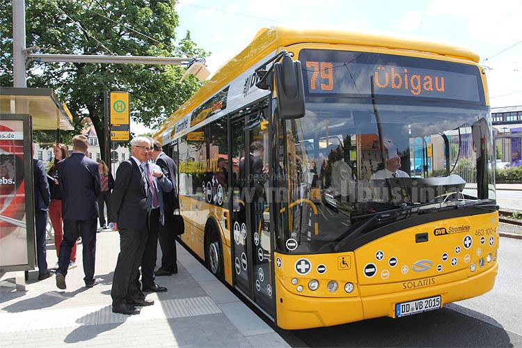 Elektrobus in Dresden auf Linie