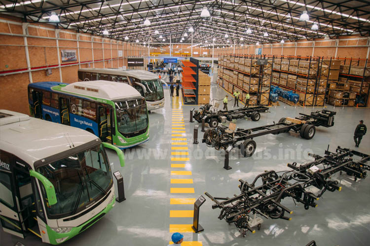 Mit einem neuen Buswerk in Kolumbien baut Daimler Buses das Busgeschäft in Lateinamerika weiter aus.