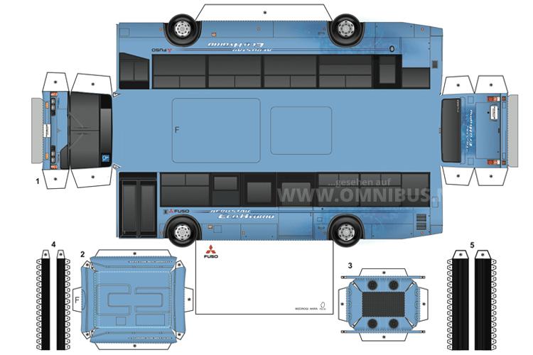 Japanischer Hybridbus