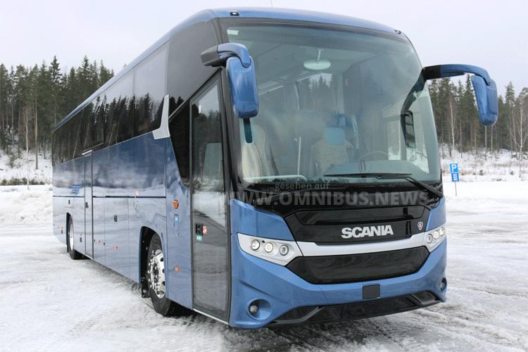 Reisebus mit Gas-Antrieb