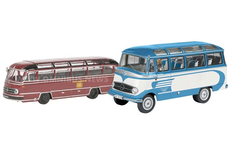 Zwei Modellbusse sind Teil der Schuco-Auslieferung 3/2016. Foto: Schuco