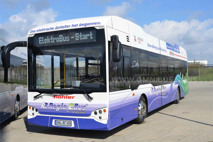 Der Elektrobus von EBE Europa: Foto: Landratsamt Hohenl