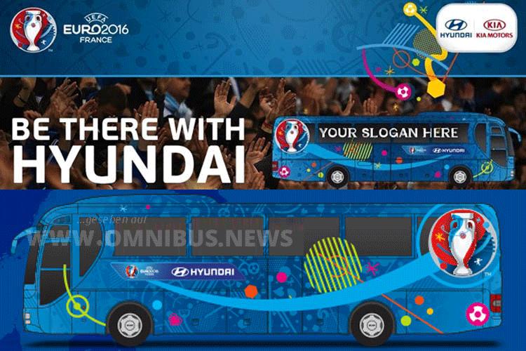Hyundai setzt bei der EM auf Reisebusse von MAN. Grafik: Hyundai
