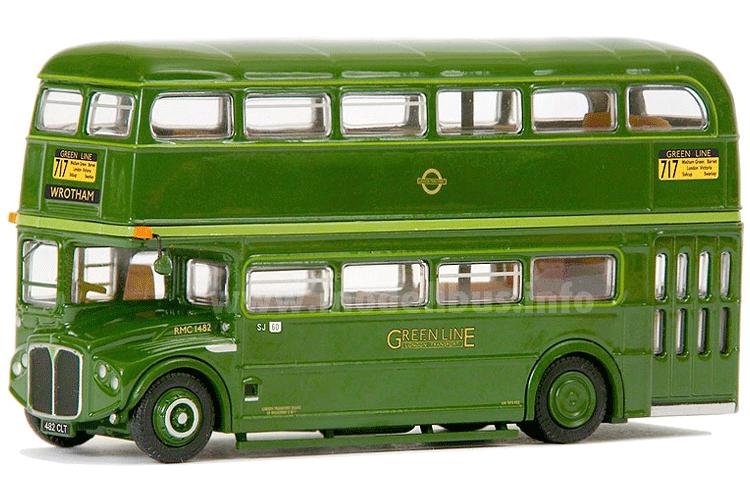 Mit einem AEC Routemaster in Greenline-Ausführung ergänzt der Shop des London Transport Museums das Angebot an Modellbussen. Foto: EFE