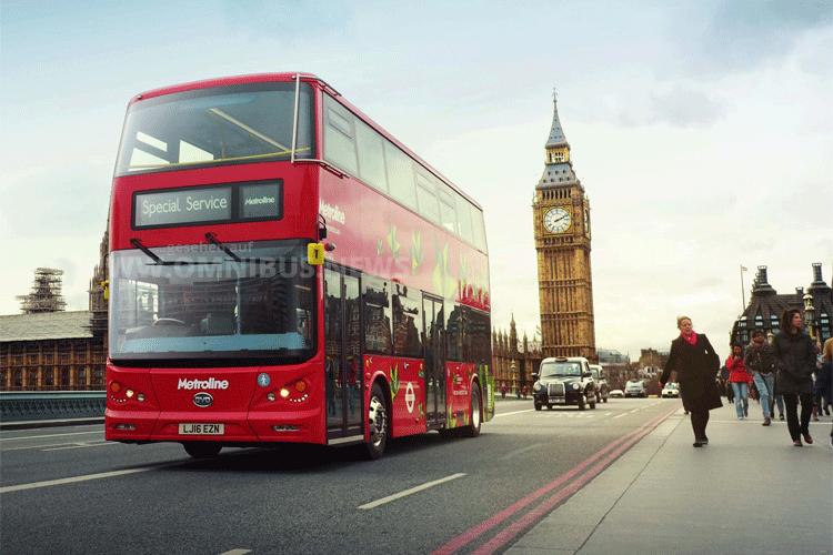 Elektrisch durch London im roten Doppeldecker. BYD macht es möglich. Foto: BYD