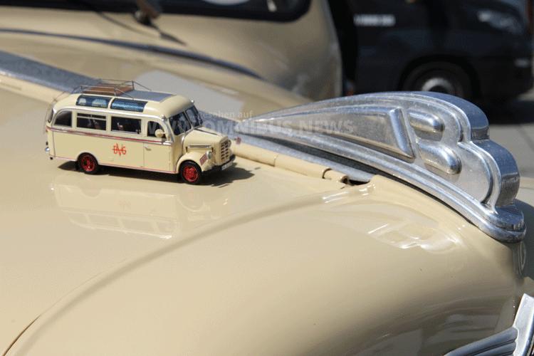 Neu im Maßstab 1/43,5: Der Borgward B 1500 D mit Pollmann-Aufbau. Foto: Schreiber