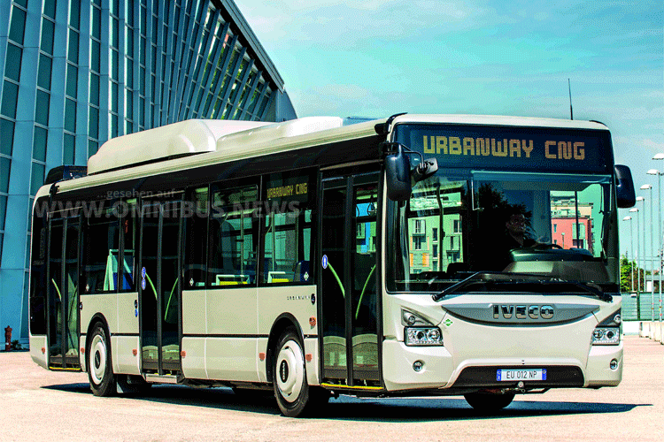 Iveco Urbanway in CNG-Ausfphrung. Foto: Iveco