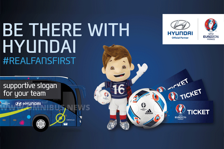Hyundai will Ende des Monats die Teambusse vorstellen. Grafik: Hyundai/UEFA