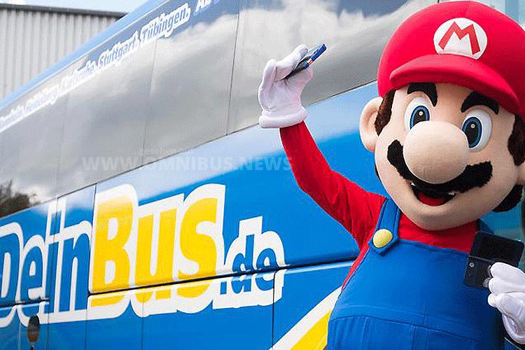 Nintendo stattet acht Fernbusse von DeinBus.de mit Spielekonsolen aus. Foto: Nintendo/DeinBus.de