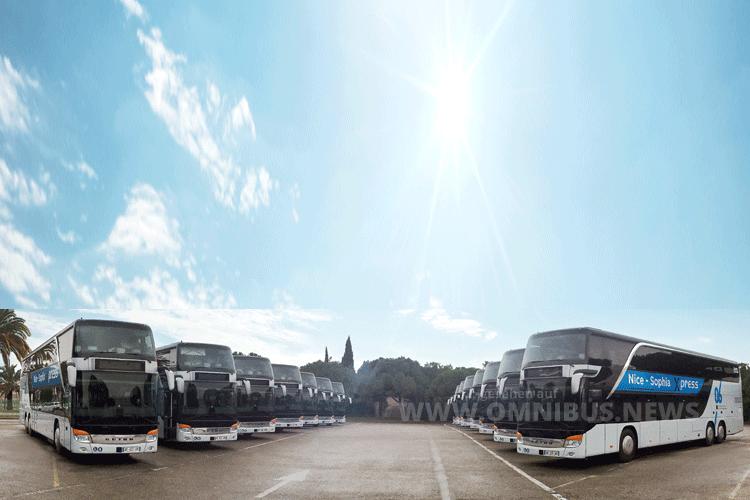 Die erste Doppeldecker-Linie Frankreich setzt auf Ulmer Fahrzeuge. Foto: Setra