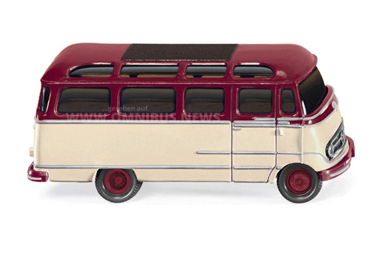 Modellgepflegt: Der Wiking MB O 319 im Maßstab 1/87. Foto: Wiking