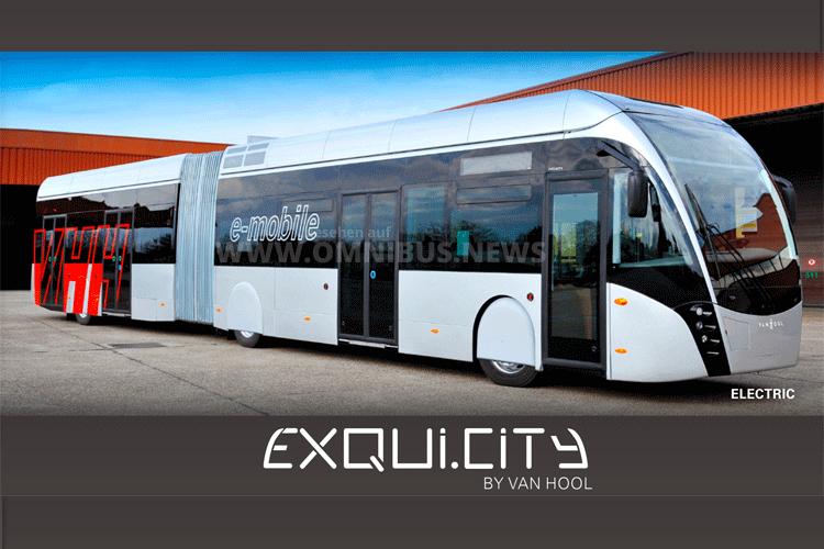 Weltpremiere in Paris: Der vollelektrische EquiCity für Hamburg. Grafik/Foto: Van Hool