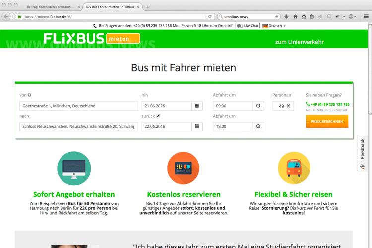 FlixBus Anmietverkehr