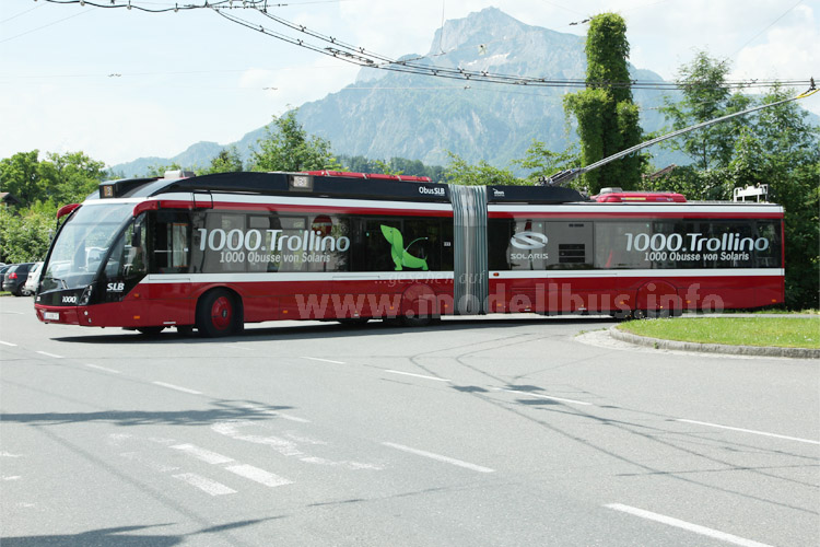 Der 1000ste Trollino, den Solaris gebaut hat, fährt in Salzburg.