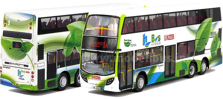 Hong Kong setzt auf Hyrbid-Doppeldecker, Modellbushersteller ziehen nach.