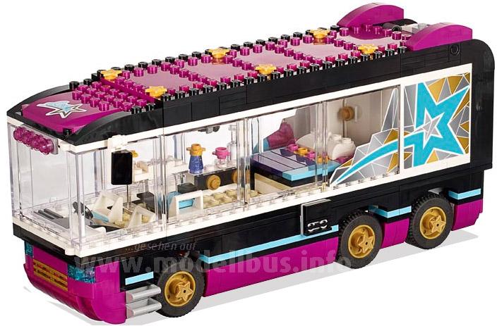 Neu: Ein Tourbus von Lego. Mit weiteren Sets lässt sich so das Erlebnis Casting nachsspielen.