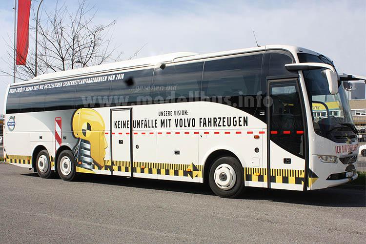 Wirbt für die Vision von Volvo: Die Lackierung des Reisebusses, den Volvo auf dem RDA-Workshop zeigt.