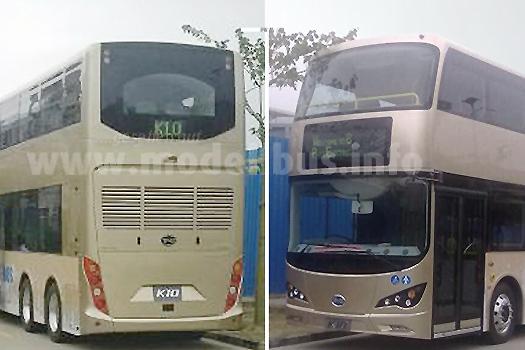 Auch in Hong Kong soll der neue Elektrobus-Doppeldecker von BYD fahren, hier als Dreiachser.