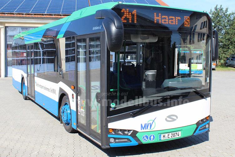 Der neue Urbino ist im Regionalverkehr des Münchner Verkehrs- und Tarifverbunds (MVV) unterwegs.