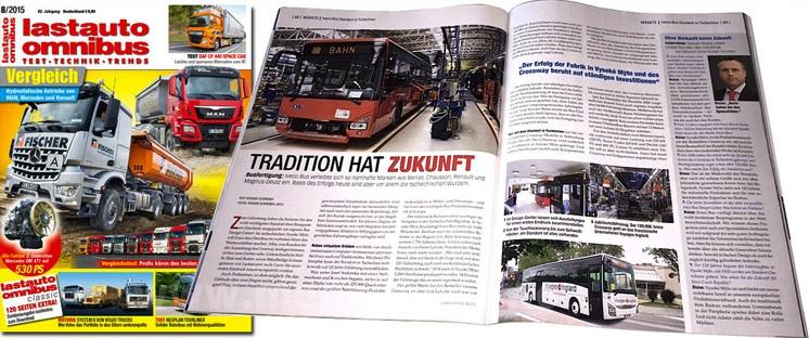 Heft 8 mit spannenden Themen aus der Buswelt.
