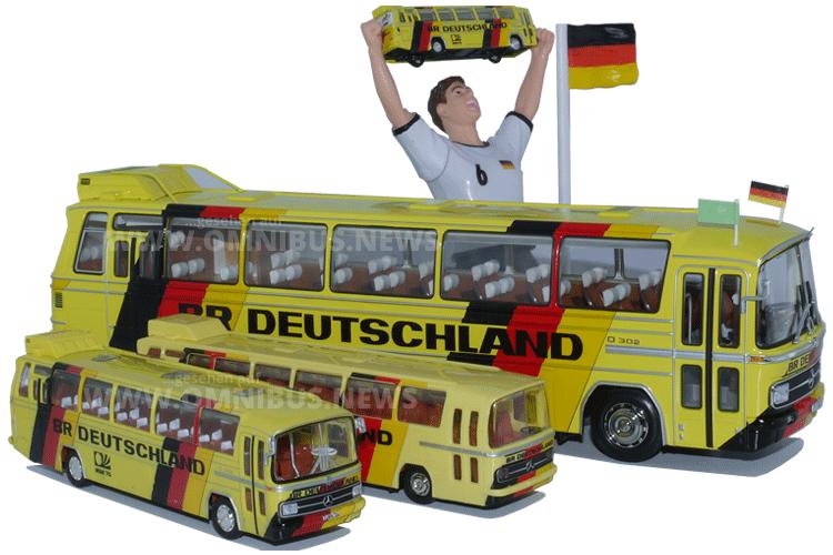 Mannschaftbusse der WM 74