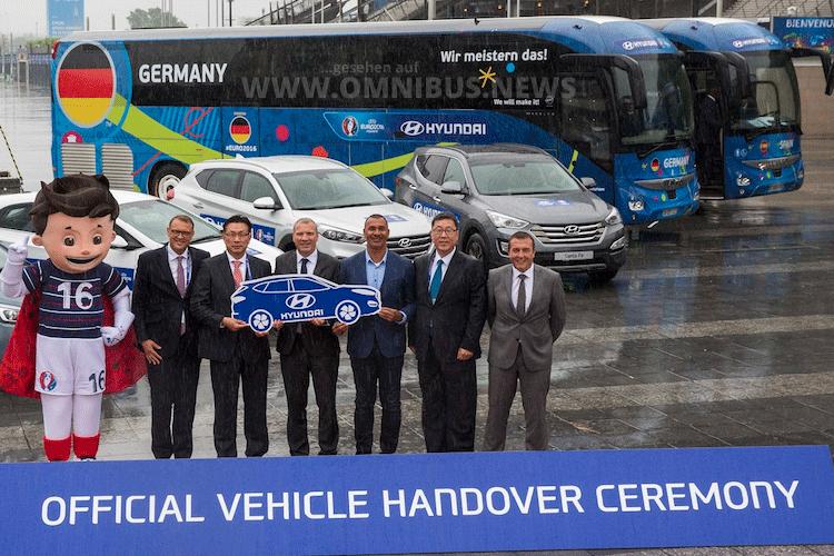 Euro 2016 EM 2016 Teambusse