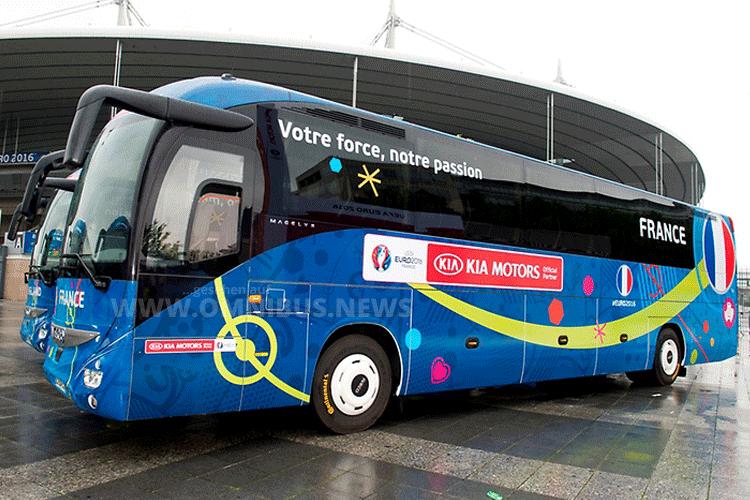 Teambus Frankreich Euro 2016