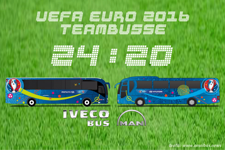 Teambusse UEFA EURO 2016