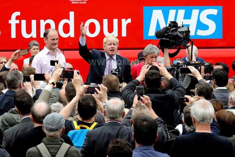"""Populistisch: Boris Johnson und sein Wahlkampf für """"Vote Leave"""". Foto: Team Vote Leave"""