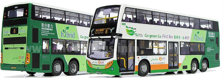 Auch optisch setzte NWFB ein Zeichen: Der neue Doppeldecker-Hybridbus.