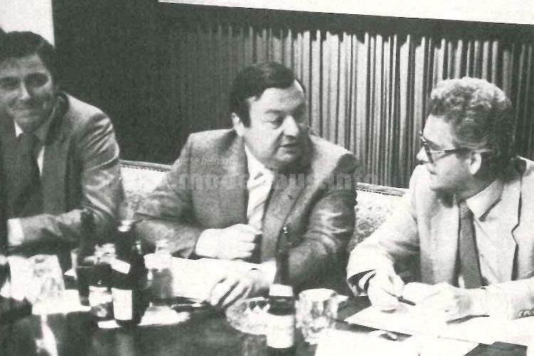 1980: bdo-Präsident Friedel Rau, bdo-Vizepräsident Theo Kimmel und bdo-Geschäftsführer Gunther Mörl (v.r.nl.)