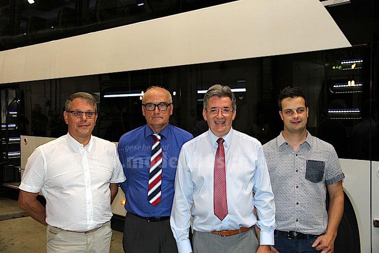 Das FDD2-Projektteam: Thieu Kuipers (Chief Engineer); Tjeu Jacobs (Manager Engineering); Frank van Geel (Managing Director) und  Arjan van Mierlo (Chief Engineer).